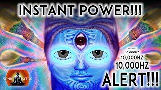 10000 Hz |  INSTANT THIRD EYE STIMULATION (WARNING!!!) 100% MOST POWERFUL THIRD EYE BINAURAL BEATS