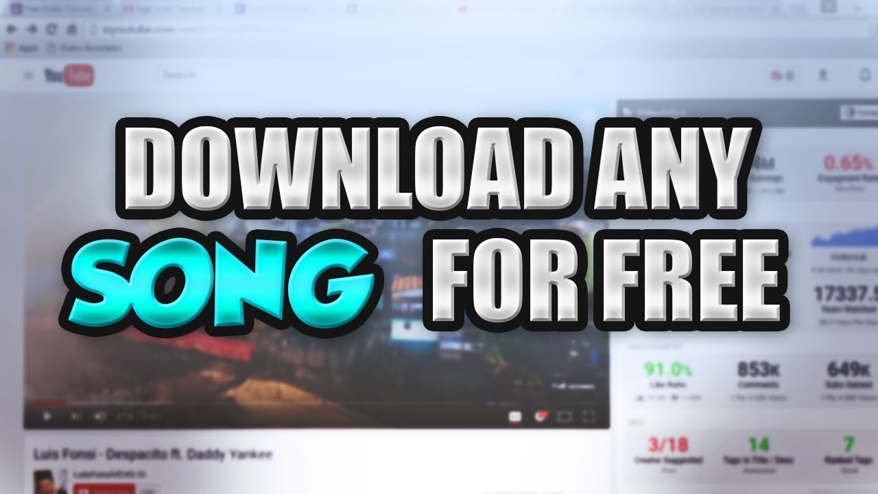 How to download any song on youtube for free! | download songs for.