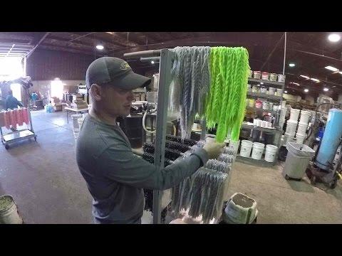 Pouring plastics at
