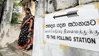 Election sous tension au Srilanka