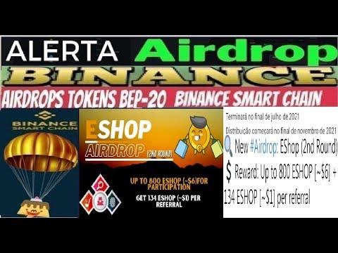 【Airdrop EShop (2nd Round)】Como 800 Tokens ESHOP ($6) | 134 ESHOP ($1) por referido | Renda Extra
