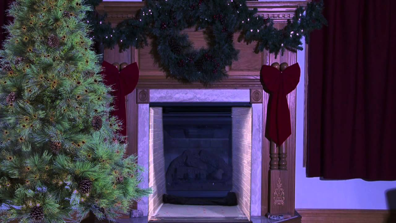 santa comes ouf of the fireplace youtube