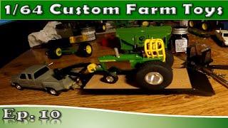 Custom 1/64 Farm Toys: Pulling Tractor Trailer