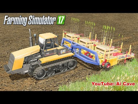 Farming Simulator 2017 - Quick & Easy Trees Planting with Tractors and Cultivator Mods