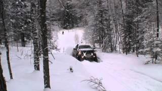 Dodge Power Wagon climb to the snowy hill