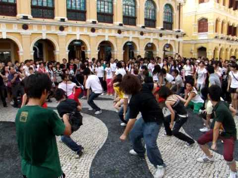 2009-08-09 MACAU SENADO Square Final Flash mob MJ快閃壓軸閃