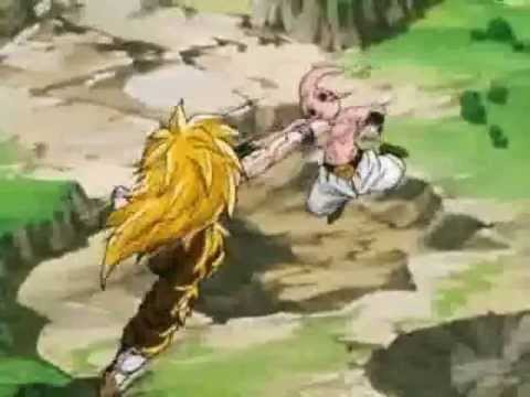 Dragon Ball z Kid Buu vs SS3 Goku ''Reggaeton Version""""
