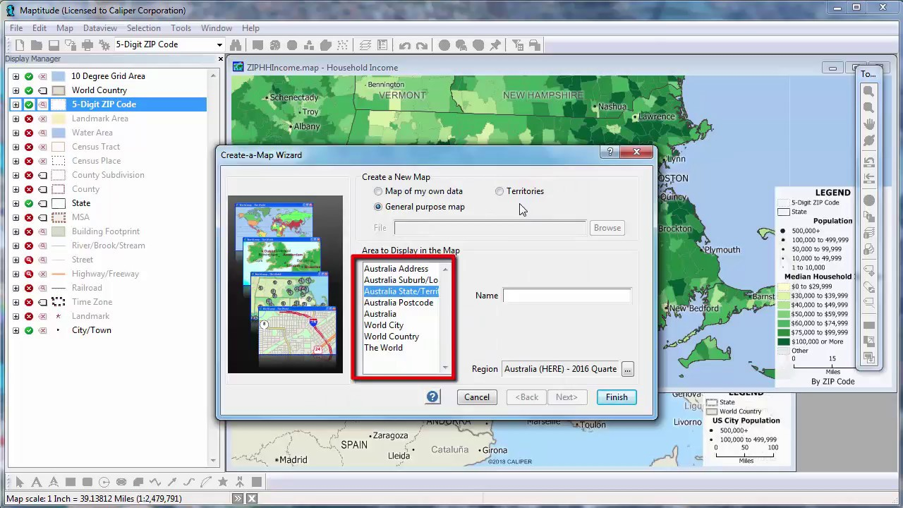 Map Creator.Maptitude 2018 Mapping Software Map Creator