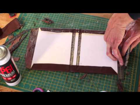 Making a Leather bound Hardcover Notebook / Journal simple DIY maker project, school or college book