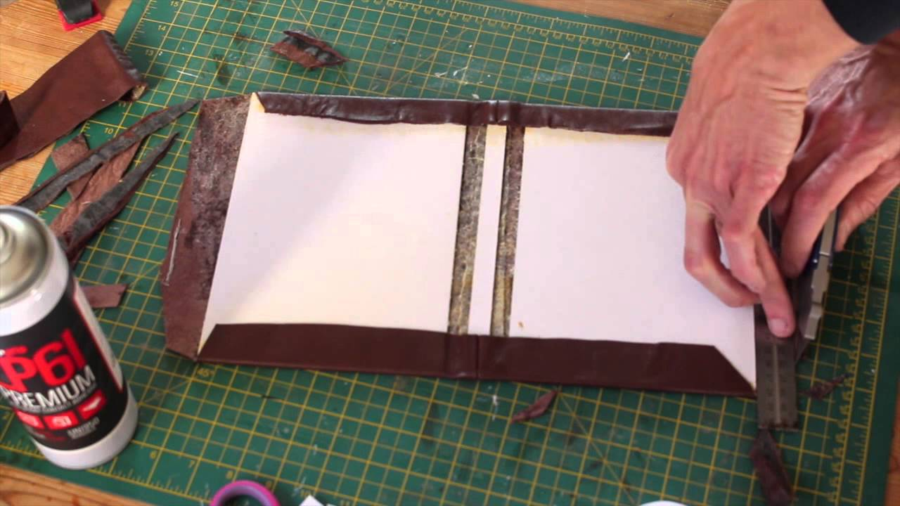 How To Make Book Cover Simple : Making a leather bound hardcover notebook journal simple