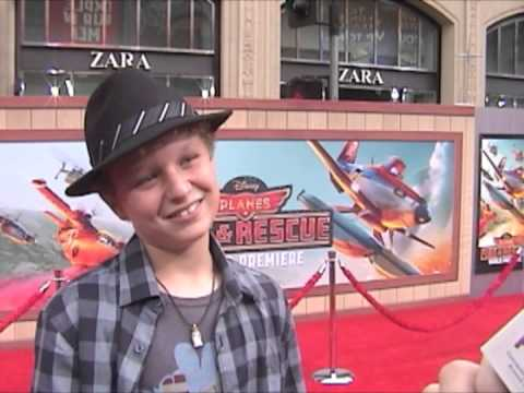 Riley Thomas Stewart at the Premiere of Planes: Fire and Rescue