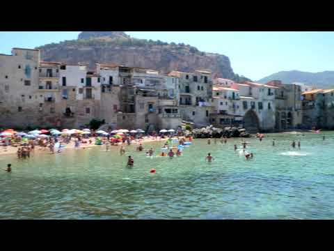Spiaggia Cefalù SICILY AUGUST 2017 - 4K ULTRA HD