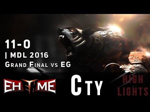 EHOME.Cty Ursa 11-0 Beyond Godlike vs EG | Grand Final | MDL 2016 Highlights