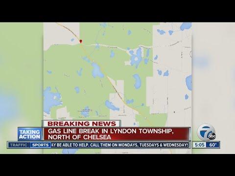Gas main rupture in Lyndon Township
