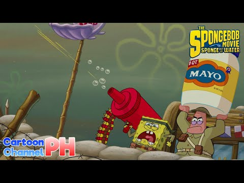 Food Fight (Tagalog Dubbed) | The SpongeBob Movie: Sponge Out of Water | Cartoon Channel PH