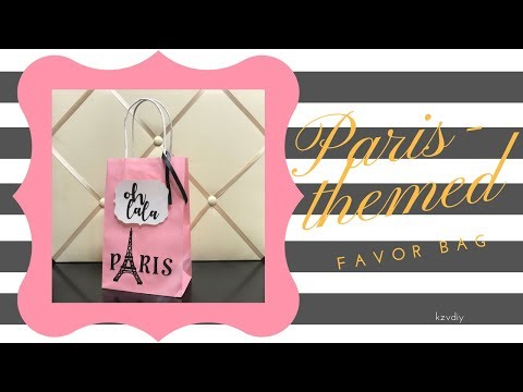 DIY Paris-Themed Favor Bag | KzvDIY