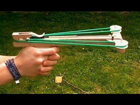 Slingshot Crossbow Pistol (homemade)
