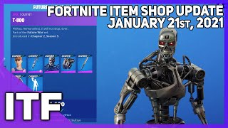 Fortnite Item Shop *NEW* TERMINATOR BUNDLE! [January 21st, 2021] (Fortnite Battle Royale)