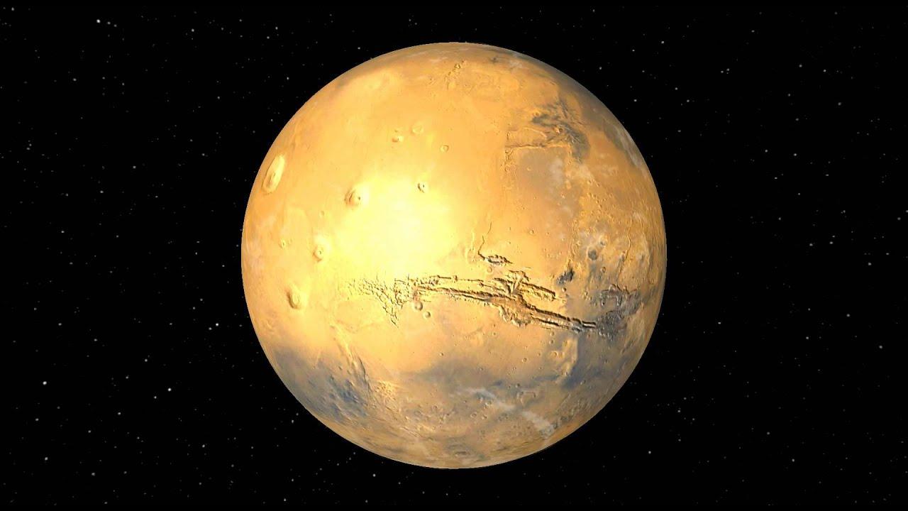 Rotation de la planète Mars - YouTube