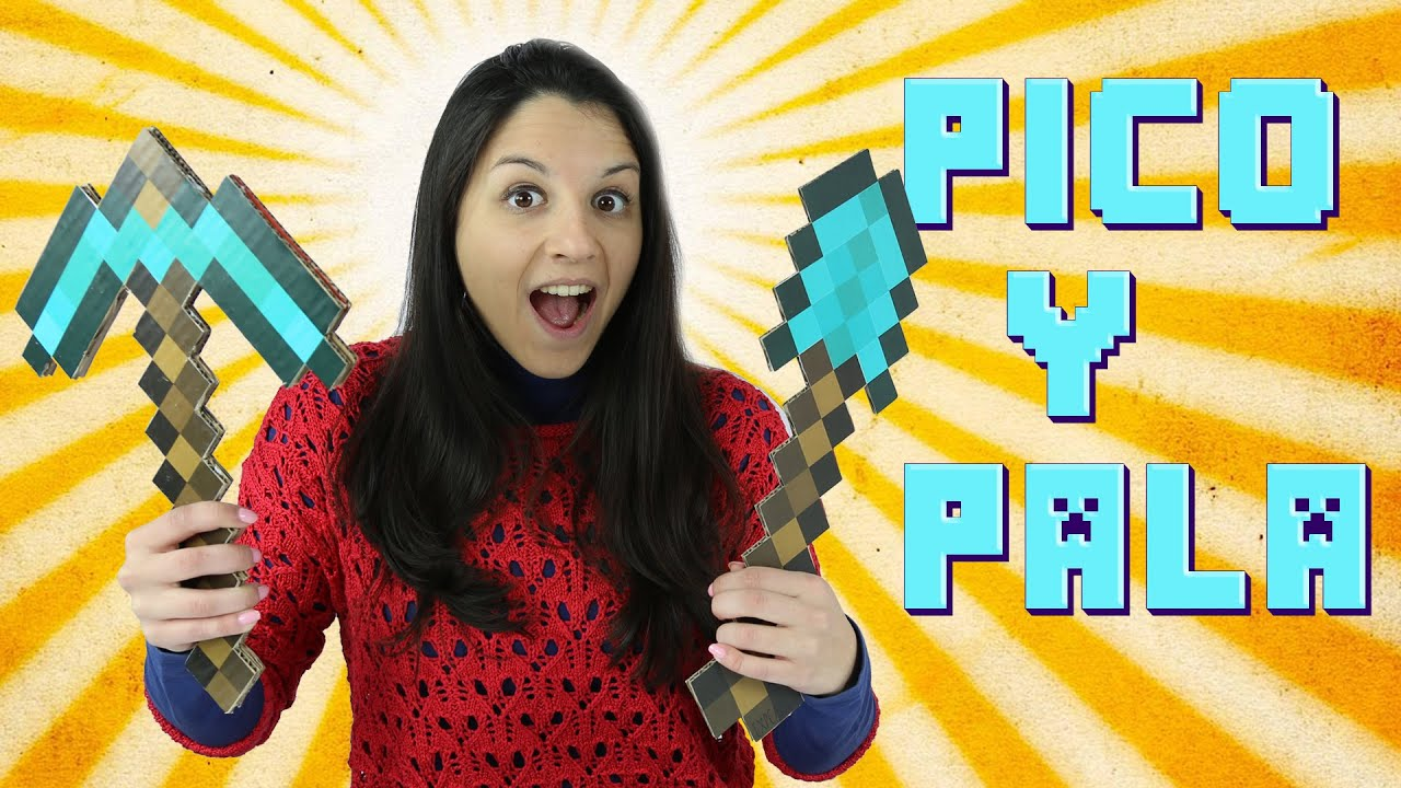 Cómo hacer el pico y la pala de diamante de Minecraft - YouTube