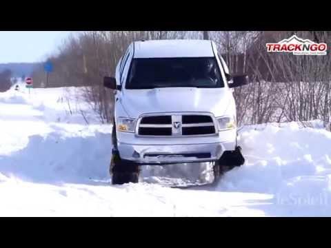 Des chenilles à neige pour camionnette inventées à Lévis ( Reportage Journal le Soleil)