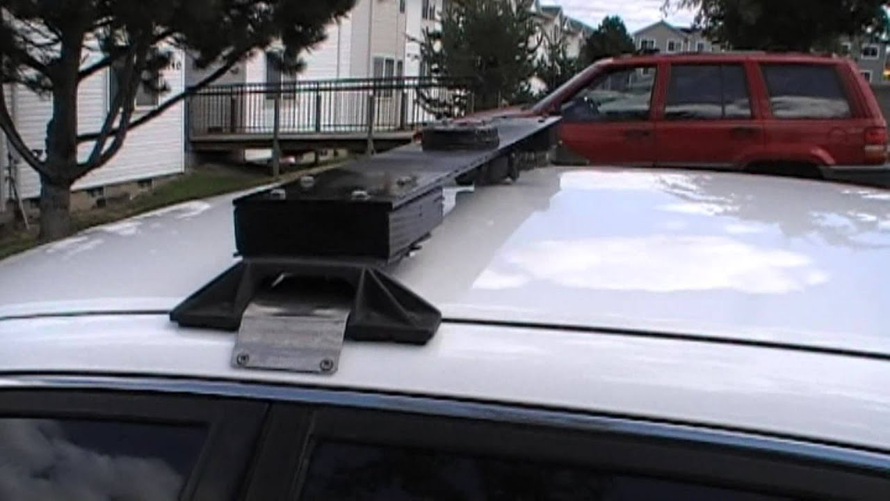 Homemade Train Horn Vehicle Roof Rack Mounting
