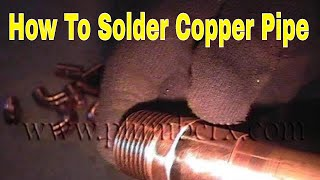 how to solder copper Pipe and repipe home Part 10 of 14 IN HD(click here http://www.plumberx.com/Copper%20Pipe%20tools%20and%20Supplys.html and get all the supplys and tools you will need to solder copper pipe ..., 2010-08-27T06:29:26.000Z)