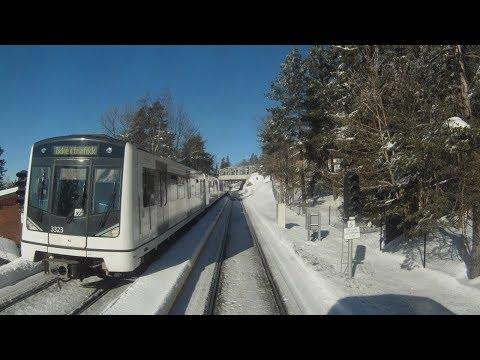 Führerstandsmitfahrt auf den Holmenkollen mit der Metro von Oslo ins Skigebiet