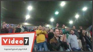 جماهير القلعة الحمراء من مدرجات ستاد السلام عقب الفوز على سموحة: