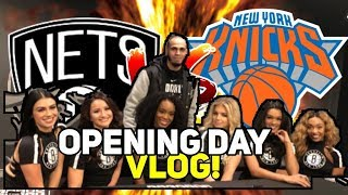 NEW YORK KNICKS VS BROOKLYN NETS OPENING NIGHT VLOG! FREE TICKETS + SPONSOR!