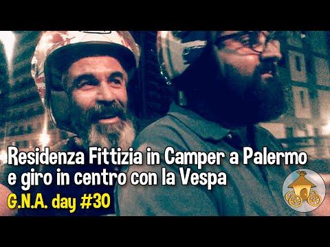 Residenza fittizia in Camper a Palermo e giro in centro con la Vespa