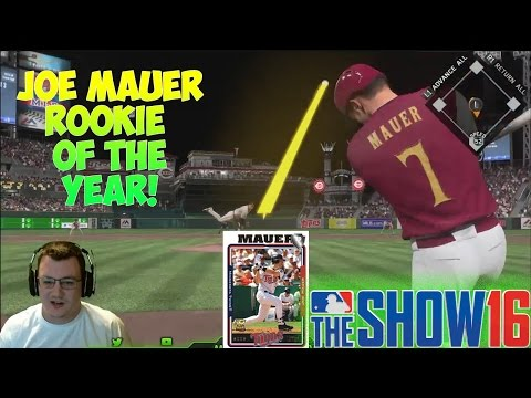 MLB The Show 16 Diamond Dynasty | Rookie Joe Mauer of the Year! [FLASHBACK JOE MAUER]