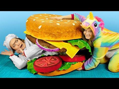 Гигантские игрушки антистресс / Огромный сквиши бургер