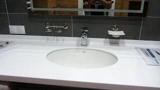 сан узел Часть-18 Установка зеркала с подсветкой, установка крючков и стиральной машины