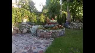 Kamień polny  w ogrodzie -moje aranżacje
