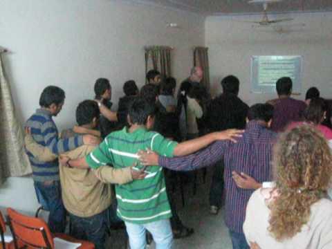 Tim teaching in Lucknow, India