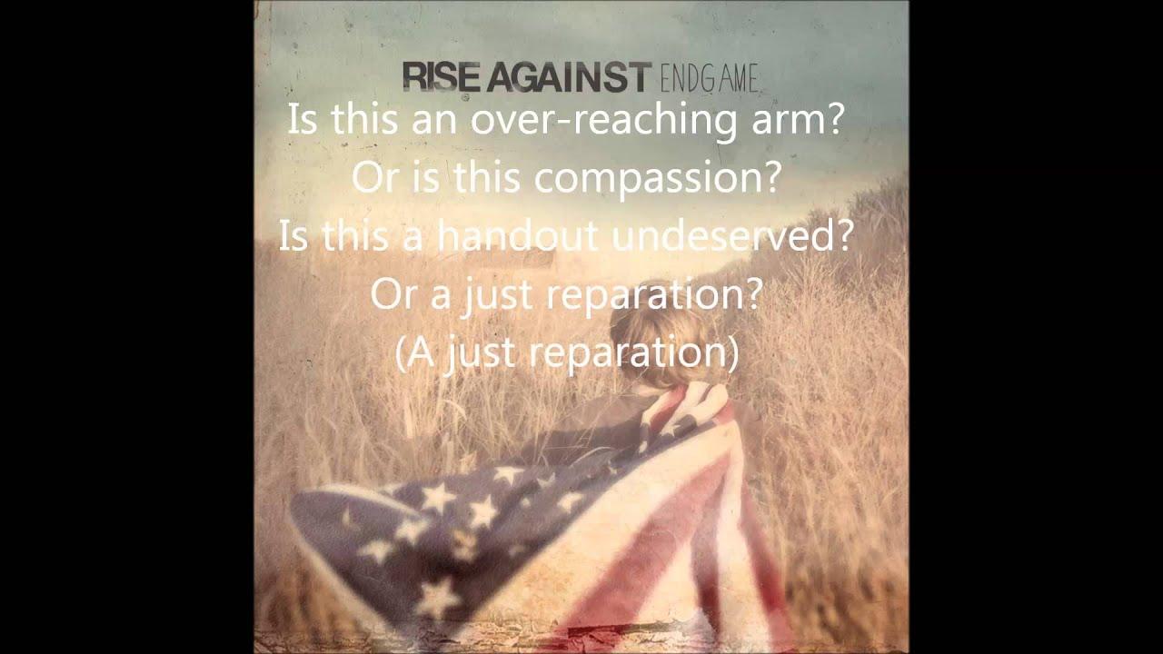 Rise Against - EndGame - Disparity By Design lyrics - YouTube