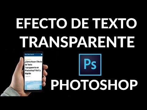 ¿Cómo Hacer Efecto de Texto Transparente en Photoshop?