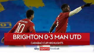 Pogba's free kick seals Man Utd win over Brighton! | Brighton 0-3 Man Utd | Carabao Cup Highlights