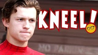 Spider Man's Tom Holland Kneels to The Access Media