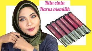 WARDAH EXCLUSIVE MATTE LIP CREAM | REVIEW & SWATCHES 05 08 09 14 15 17