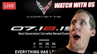 Live Feed - Watching the C8 Corvette REVEAL EVENT!
