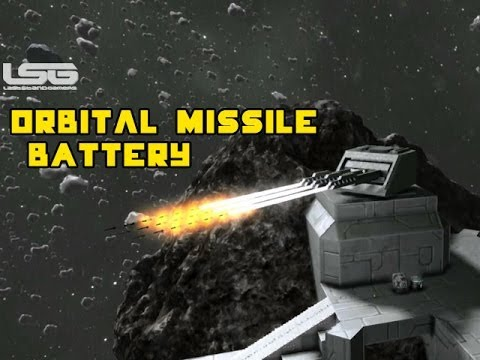 Space Engineers - Orbital Missile Battery Defence System & Gravity LauncherPart 29