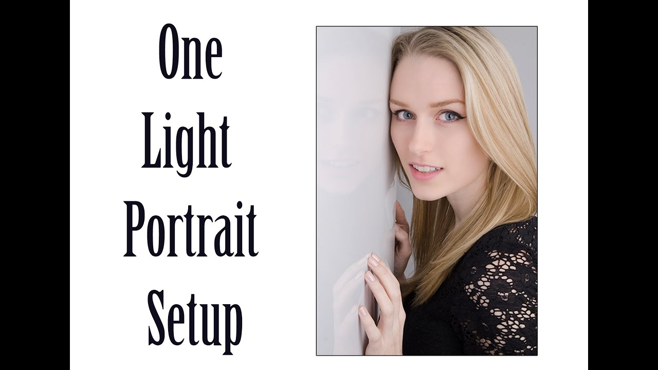 Rembrandt Lighting With Speedlight The Basics Of One Light Portrait Setup - Youtube