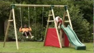Plum Chacma Wooden Pole Swing & Slide Set