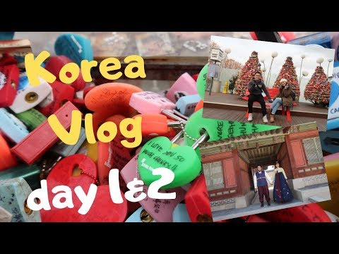 Korea Vlog day 1 & 2:  N Seoul.Myeongdong.Hanbok Experience