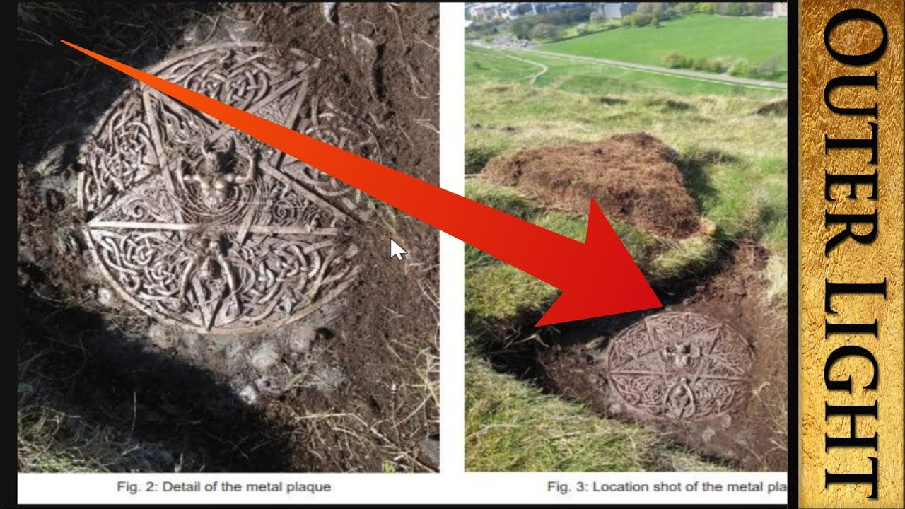"The Outer Light Mystery ""plaque and altar"" unearthed in Scotland park #HolyRood #StMargare"