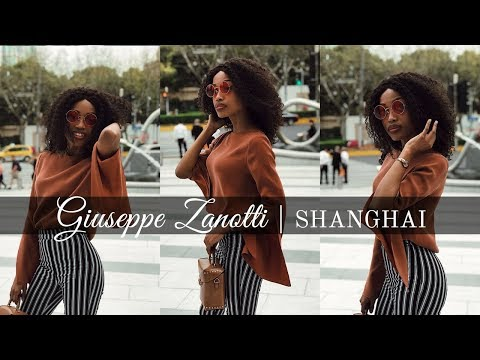 Black girl living in China, Luxury Fashion Vlog | Giuseppe Zanotti Trunk Show Shanghai 2018