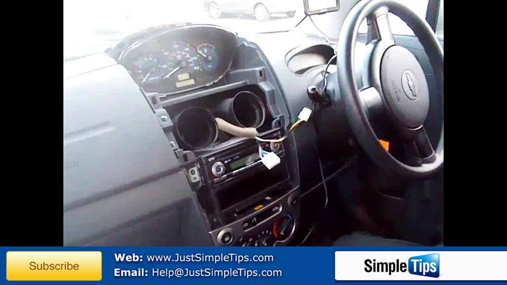 Radio Removal Chevrolet Matiz (2005-2009) JustAudioTips - YouTube