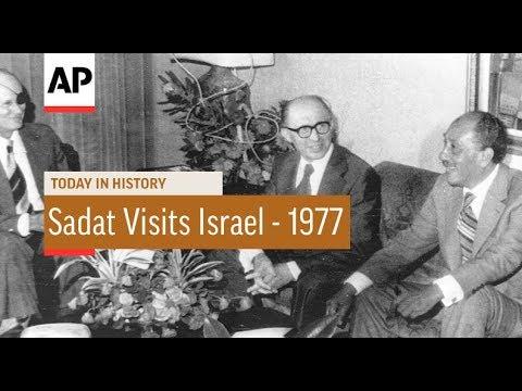 Sadat Visits Israel - 1977 | Today In History | 19 Nov 17